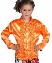 Afgeprijsde feestblouse oranje voor kinderen