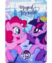 Afgeprijsde fleece deken my little pony vrienden voor meisjes
