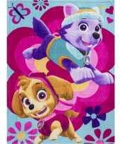 Afgeprijsde fleece deken paw patrol honden voor meisjes 10127297