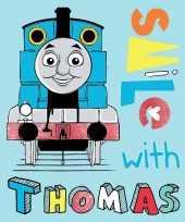 Afgeprijsde fleecedeken thomas de trein blauw voor jongens