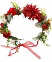 Afgeprijsde flower power bloemen krans voor dames