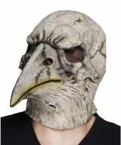 Afgeprijsde grijze dode adelaars vogel masker van latex