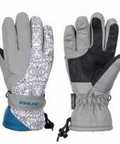 Afgeprijsde grijze witte starling mirre ski handschoenen taslan voor jongens meisjes