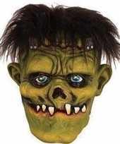 Afgeprijsde groen horror frankenstein monster masker van latex