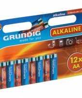 Afgeprijsde grundig batterijen aa pakket 12 stuks