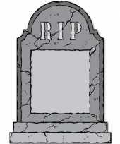Afgeprijsde halloween horror grafstenen krijtbord rest in peace decoratie 53 cm