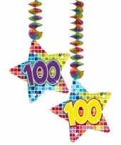 Afgeprijsde hangdecoratie verjaardag 100 jaar