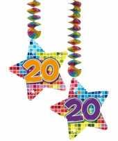 Afgeprijsde hangdecoratie verjaardag 20 jaar