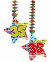 Afgeprijsde hangdecoratie verjaardag 35 jaar