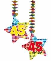 Afgeprijsde hangdecoratie verjaardag 45 jaar