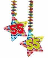 Afgeprijsde hangdecoratie verjaardag 55 jaar
