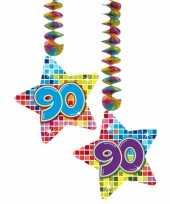 Afgeprijsde hangdecoratie verjaardag 90 jaar