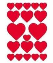 Afgeprijsde hartjes sticker kussentjes 57 stuks