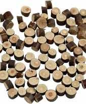 Afgeprijsde hout boomstammetjes 230 gram