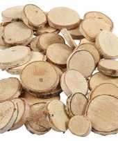 Afgeprijsde hout mix boomstammetjes 600 gram