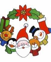 Afgeprijsde kerst raam sticker 30 cm