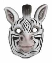 Afgeprijsde kindermasker zebra