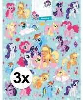 Afgeprijsde kinderspeelgoed my little pony stickervellen xl