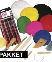 Afgeprijsde klei hobby pakket groot inclusief gereedschap