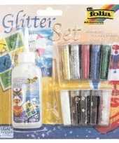Afgeprijsde knutsel glitters in tubes 10 stuks