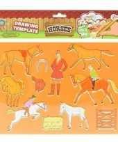 Afgeprijsde knutsel materiaal kind tekensjabloon paard