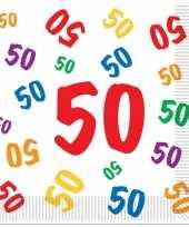 Afgeprijsde leeftijd servetten 50 jaar 16 stuks