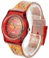 Afgeprijsde leren klokkijken rode analoge cars horloges voor kinderen jongens