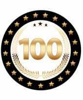 Afgeprijsde luxe bierviltjes met cijfer 100