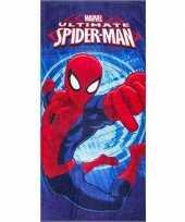 Afgeprijsde marvel spiderman badlaken strandlaken blauw 70 x 140 cm