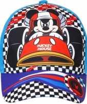 Afgeprijsde mickey mouse kids petje cap blauw