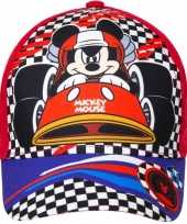 Afgeprijsde mickey mouse kids petje cap rood