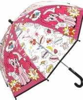 Afgeprijsde my little pony paraplu met pinkie pie voor meisjes