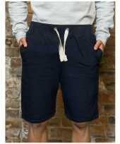 Afgeprijsde navy campus korte broek voor heren