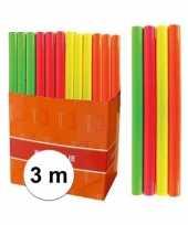 Afgeprijsde neon oranje folie inpakpapier voor boeken 3 meter