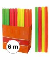 Afgeprijsde neon oranje folie inpakpapier voor boeken 6 meter