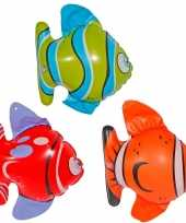 Afgeprijsde opblaasbare decoratie vissen 9x stuks