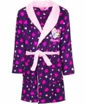 Afgeprijsde paarse princess kamerjas met capuchon voor meisjes