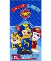 Afgeprijsde paw patrol heroes badlaken strandlaken blauw 70 x 140 cm