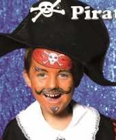 Afgeprijsde piraat schminken schminkset 6 delig