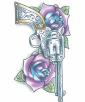 Afgeprijsde plak tatoeage revolver dag van de dood