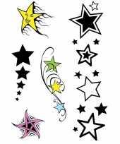 Afgeprijsde plak tatoeages sterren print