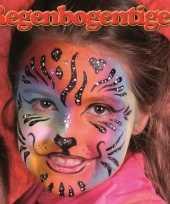 Afgeprijsde regenboog tijger schminken schminkset 6 delig