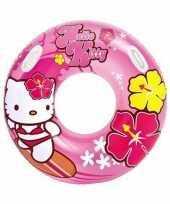 Afgeprijsde roze hello kitty zwemring 97 cm
