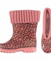 Afgeprijsde roze kinder regenlaarzen met voering 10116558