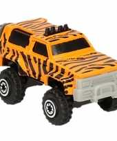 Afgeprijsde safari auto tijger print 7 cm