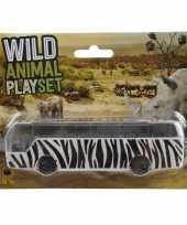 Afgeprijsde safari bus zebra print 14 cm