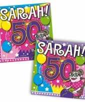 Afgeprijsde sarah feest servetten 50 jaar