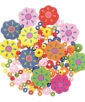 Afgeprijsde sieraden maken kralenmix set bloem
