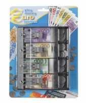Afgeprijsde speelgeld kassa set voor kinderen om te leren 87 delig