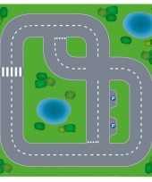 Afgeprijsde speelgoed autowegen stratenplan wegplaten dorpje set karton
